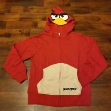 CHARACTER HOODIE ANGRY BIRDS RED KIDS L 10/12 XL 14/16 XXL 18/20 NWT