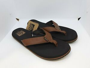 NWT Reef Twinpin Men's Flip Flop Sandals Size 11 Brown
