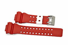 16MM RED WHITE RUBBER WATCH BAND FOR CASIO GSHOCK GA300 GA100 GW8900 GA120 GD110