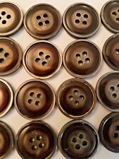 "Lot of 100 Round Brown 3/4"" Four-Hole Buttons for Sewing / Crafts- FREE Shipping"