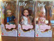 Rare 3 Mattel Barbie Kelly Doll Rapunzel Princess Lot