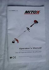 Mitox 26L-SP special edition brushcutter operator's manual
