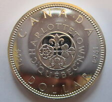 1964 CANADA CHARLOTTETOWN SILVER DOLLAR PROOF-LIKE COIN - A