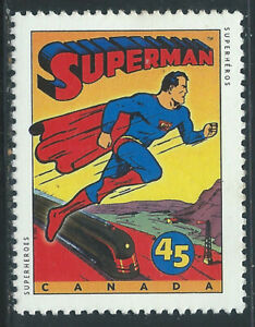 Canada #1579(1) 1996 45 cent SUPERMAN DRAWING BY JOE SHUSTER MNH CV$1.50