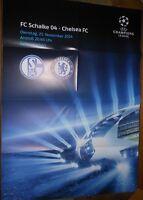 Spielplakat + FC Schalke 04 vs Chelsea FC + Champions League + 25.11.2014 +