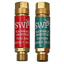 COPPIA di flashback-ossigeno e combustibile gas