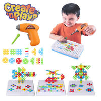 CJ-0933466 DIY Electric Drill Puzzle Toy Set STEM Toy Early Education Drill Game