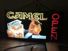 New Vintage 1993 Joe Camel Magnalite Retail Open Neon Sign USED