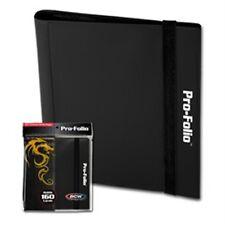 BCW Black Pro-Folio Binder Album 4 Pocket Side Load Storage holds 160 Cards
