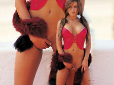 Carmen Electra 8X10 sexy semi nude with red top