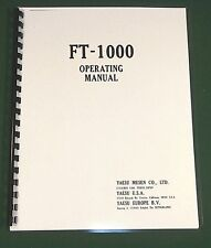 Yaesu FT-1000 Operating Manual -  Premium Card Stock Covers & 32 LB Paper!
