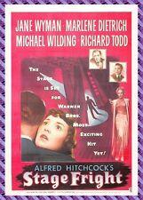 Cartolina Manifesto da Film - Stage Fright