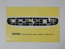 Original Ferrari 250 California Spyder Sales Brochure French 275 330 PF GTE