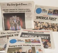 Newspapers January 21 2017 President Donald Trump Inauguration USA Today Times