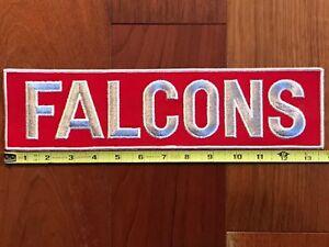 "NFL Atlanta Falcons LARGE Vintage 13-3/4"" x 3-1/2"" Sew On Patch (Mint Condition)"