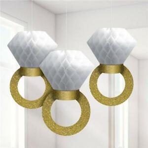 Engagement Bridal Shower Decorations Hens Kitchen Tea Ring Hanging Banner Pom