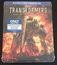 Transformers AGE OF EXTINCTION Blu-Ray SteelBook Best Buy Exclusive AOE OOP Rare
