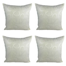 """Pack of 4 Filled Cushions - Nylon Cream / Abstract Print - 17 x 17"""" / 43 x 43 cm"""