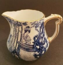 Royal Crown Derby England  Antique Blue & White  Milk/Creamer Pitcher