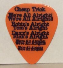 Rick Nielsen We'Re All Alright Tour 2019 Orange Guitar Pick Cheap Trick Awesome