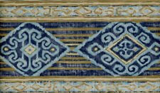 ORIENTAL DIAMONDS IN BLUES WALLPAPER BORDER