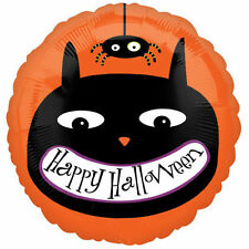 Halloween Black Cat & Spider FOIL Helium Balloon Halloween Party Decorations