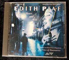 Audio CD - EDITH PIAF - Heart and Soul 1987 Digital Remaster LIKE NEW (LN)