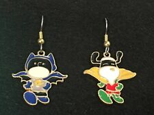 CHARLIE BROWN & SNOOPY Earrings Surgical Hook New Peanuts Friends Batman Robin