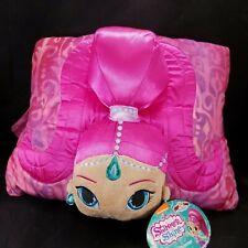 "Shimmer & Shine Pillow Pets Nickelodeon Stuffed Animal Plush 11"" x 16"" Pink NEW"