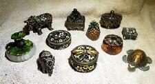 Cracker Barrel Decorative Hinged Trinket Box Jeweled Vintage / Modern Lot