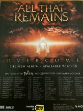 All That Remains, Overcome, Full Page Promotional Ad