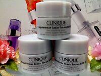Lot of 3:Clinique Repairwear Laser Focus Line Smoothing Cream SPF15 15ml*3/1.5oz