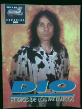 DIO - Biography + Color Poster - Popular 1 Special Magazine 1986 - Spain