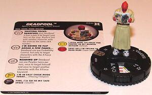Deadpool 034B Deadpool Et X-Force Marvel Heroclix Rare
