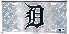 Detroit Tigers Diamond License Plate Wall Sign Tag Metal Sign 6x12 USA SHIP