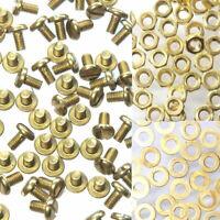 12 Schrauben M3 x 6 mm Messing DIN85 + Muttern + Unterlegscheiben