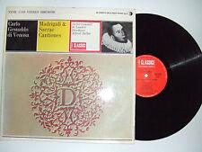 Alfred Deller – Carlo Gesualdo Di Venosa  -Disco Vinile 33 Giri LP ITALIA