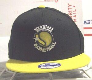 Golden State Warriors NBA New Era Black & Yellow Team Logo Youth Cap