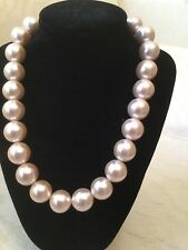 Blush Colored Beautiful Faux Pearl Necklace