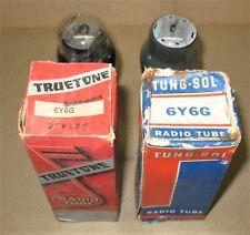 2 NOS Truetone Tung-Sol  6Y6G  Tubes