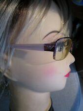 EMPORIO ARMANI half rim glasses / frame  PINK