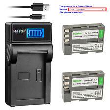 Kastar Battery USB LCD Charger for Nikon EN-EL3e MH-18a & Nikon D70S DSLR