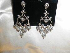 Mariell Genuine Crystal Vintage Chandelier Wedding Bridal Earrings 612E BNWT