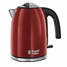 Russell Hobbs 20412 Red 1.7L 3Kw Cordless Electric Rapid Boil Kettle Jug New