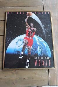 Vintage 1995 Michael Jordan Out of this World Framed Poster