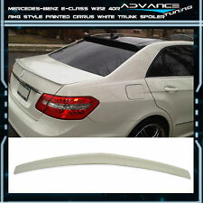 10-16 Benz E-Class W212 4Dr Trunk Spoiler OEM Painted Color # 650 Cirrus White