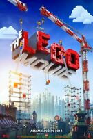 THE LEGO MOVIE MOVIE POSTER Original DS Advance 27x40  WILL FERRELL ANIMATION