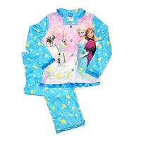 New Disney Frozen Elsa Anna Girls 2 PC Pajama Top Coat Pants Set SZ 4/5