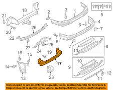 AUDI OEM 17-18 Q7 Rear Bumper-Impact Bar 4M0807309