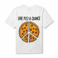 NIP The Children's Place Boys Short Sleeve 'Give Pizz-A Chance' Graphic Tee SZ L